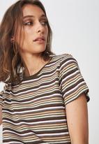 Cotton On - The crew T-shirt - stripe khaki