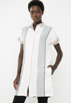 AMANDA LAIRD CHERRY - Nozibele button through tunic - multi