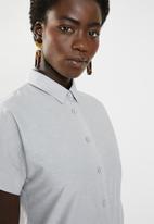AMANDA LAIRD CHERRY - Nozibele button through tunic - grey