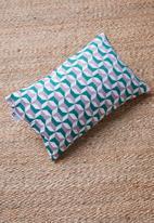 Sixth Floor - Ivana cushion cover - grey & green