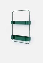 Smart Shelf - Orbit double shelf - emerald green