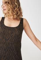 Cotton On - Mac mini dress - black & brown