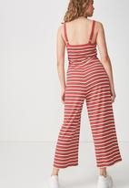 89c8aaf6c0f2 Valerie strappy wide leg jumpsuit - red stripe Cotton On Jumpsuits ...