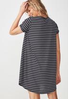 Cotton On - Tine T-shirt dress - navy & white