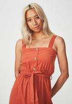 Cotton On - Woven midi dress - orange