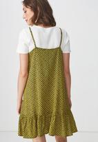 Cotton On - Woven leni frill hem dress - yellow