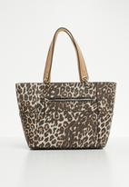 GUESS - Kamryn leopard-print tote bag - brown & cream