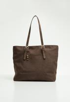 G Couture - Embroidery detail woven bag - brown
