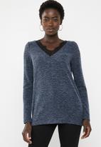 Vero Moda - Gigi lace sweater - navy