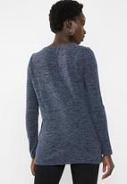 Vero Moda - Gigi lace sweater - navy