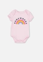 Cotton On - Mini short sleeve bubbysuit - pink
