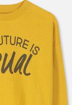 Cotton On - Tom loose fit tee - yellow