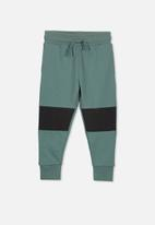 Cotton On - Leo trackpant - green and black