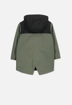 Cotton On - Albert anorak - green & black