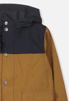 Cotton On - Albert anorak - mustard & navy