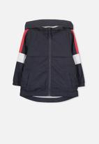 Cotton On - Houston spray jacket - navy & red splice