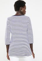 POLO - Kendall striped tee - navy & white