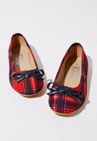 Cotton On - Ballet flats - red & navy