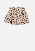 Cotton On - Cilla skirt - brown & black