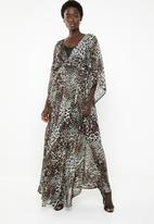 G Couture - Kimono sleeve lined maxi dress - leopard print