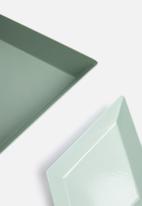 Sixth Floor - Carlton tray set - green