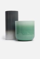 Sixth Floor - Scarlette vase - charcoal ombre