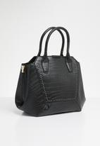 Missguided - Black croc handbag - black