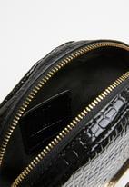 Missguided - Circle handle croc bag - black