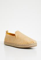 Toms - Slub chambray deconstructed alpargatas - yellow
