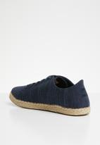 Toms - Slubby cotton Lena espadrille sneakers - navy