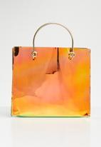 STYLE REPUBLIC - Vinyl shopper bag - bronze