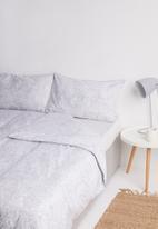 Sixth Floor - Aria paisley printed duvet set - grey