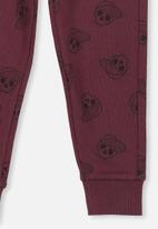 Cotton On - Lewis trackpant - burgundy