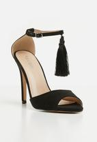 Public Desire - History barely there heel - black