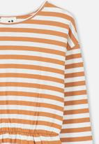 Cotton On - Mara long sleeve dress - orange