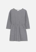 Cotton On - Mara long sleeve dress - navy