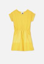 Cotton On - Sibella short sleeve dress - yellow