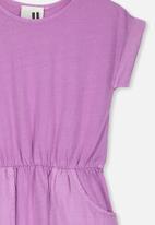 Cotton On - Sibella short sleeve dress - purple