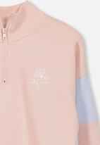 Cotton On - Sage crew - pink & blue