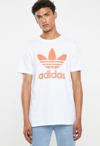 adidas Originals - Mens original trefoil tee - white & orange