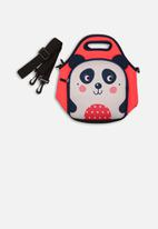 MINOTI - Panda lunch bag - pink & purple