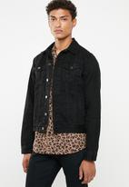Superbalist - San Fran Denim Trucker Jacket - black rinse