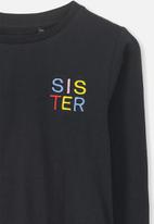 Cotton On - Penelope long sleeve tee - black
