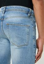Superbalist - Skinny rip & repair jeans - blue