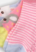 MINOTI - 3 pack character ankle socks - pink & blue
