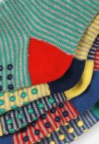 MINOTI - 5 pack striped ankle socks - multi