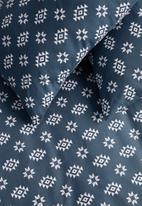 Sixth Floor - Aztec folk printed duvet set - navy