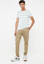 STYLE REPUBLIC - Casual stripe T-shirt - white & khaki