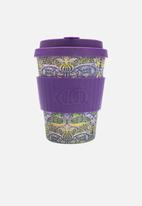 Ecoffee Cup - Peacock Ecoffee cup 340ml - purple