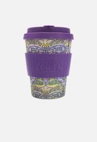 Ecoffee Cup - Peacock Bamboo Ecoffee cup 340ml - purple